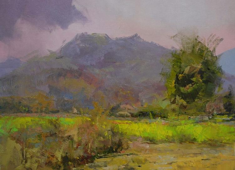 "Modern Landscape Painting "" Coming Rain "" ( 433l15 ) - Image 0"