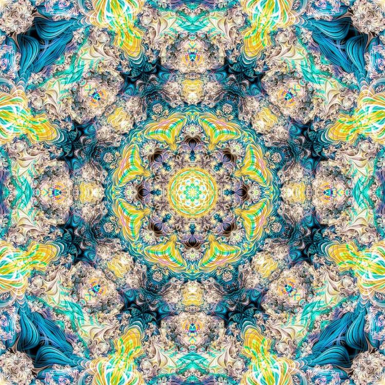 Lotus Mandala 40cm x 40cm Canvas Print - Image 0