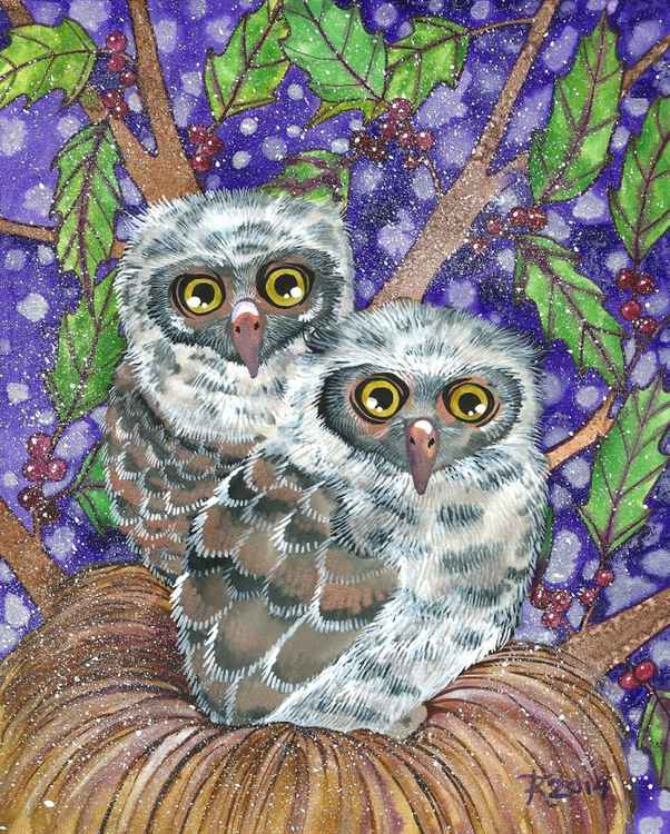 Baby Screech Owls -
