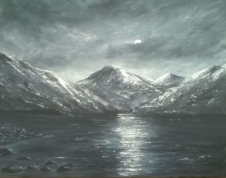 Moonlight Over Crummock Water - Image 0