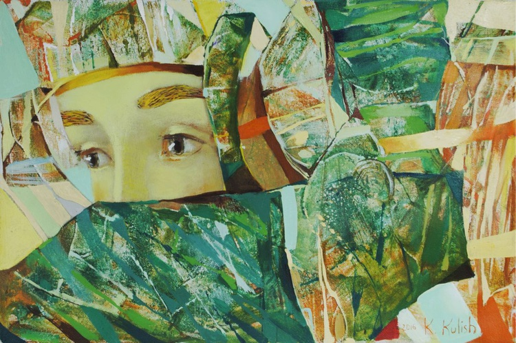 """Original oil painting on canvas  """"Stop a moment, you're beautiful"""" by Kate Kulish - Image 0"""