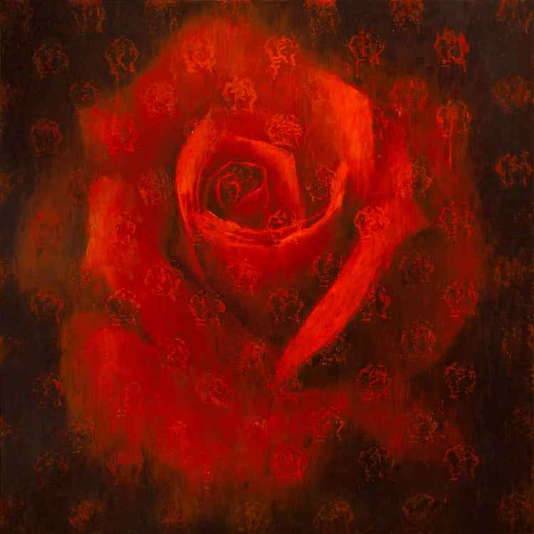 Red flame rose -