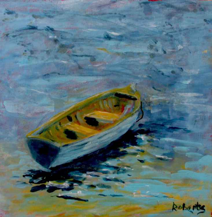 Lone boat - Daily Painting 54