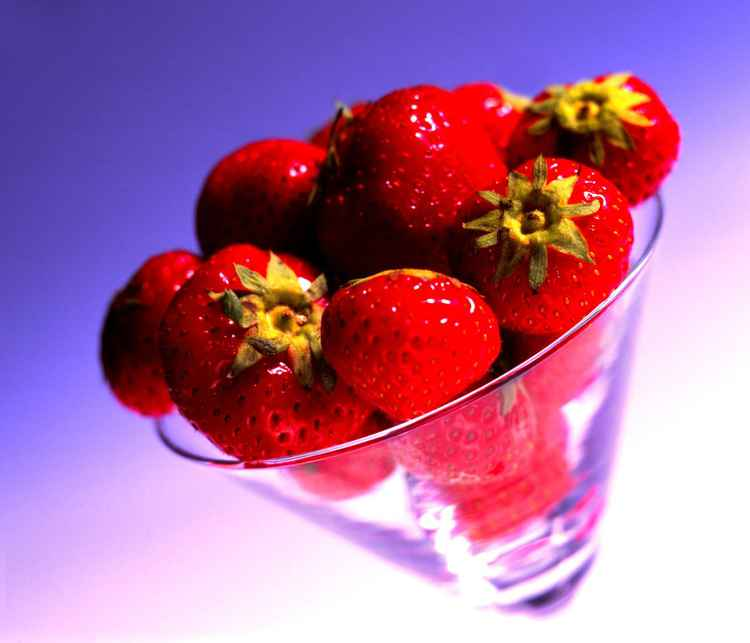 Strawberries in a Glass -