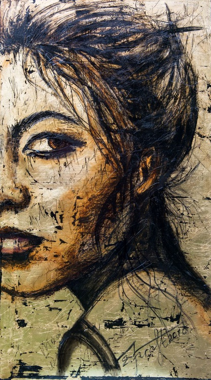 """""""Asian delight"""", original mixed media painting, 50x90 cm, ready to hang - Image 0"""