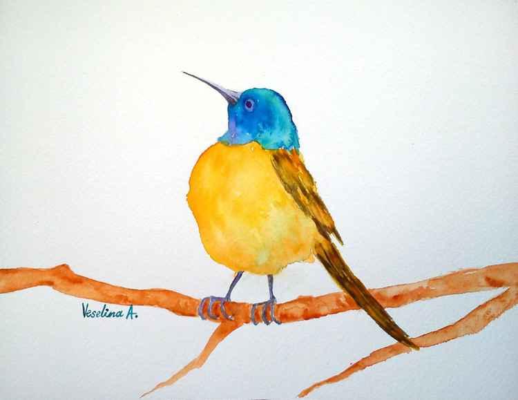 Watercolour bird -