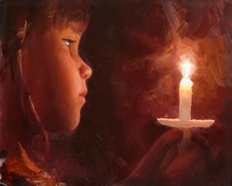 Let Your Light Shine - Little Girl and Candlelight Service - Image 0