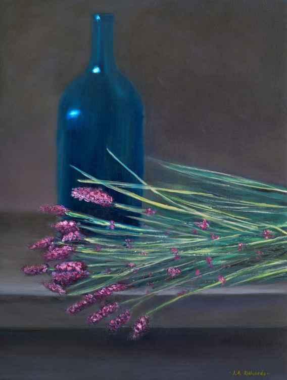Lavender and blue bottle