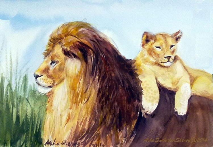 Lion King and cub - Image 0