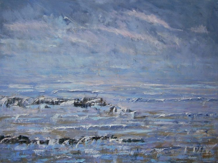 'Early Spring Coast' Large Abstract - Image 0