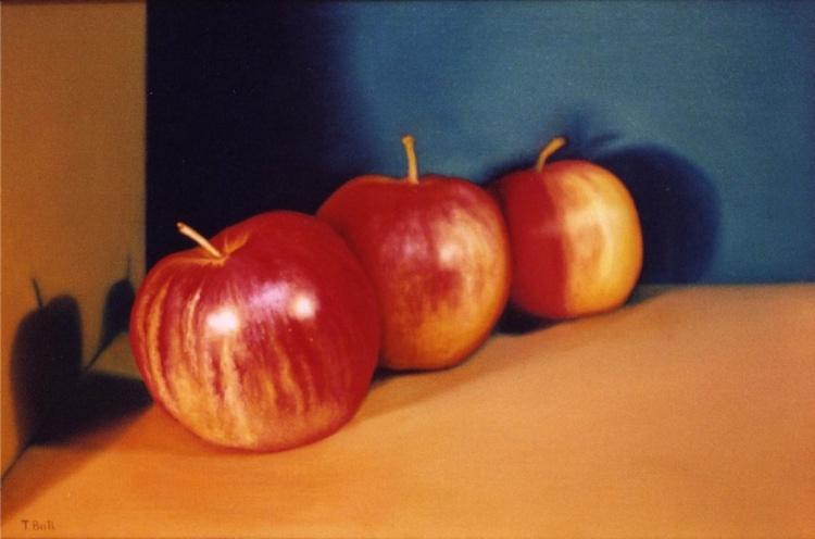 Three Red Apples - Image 0