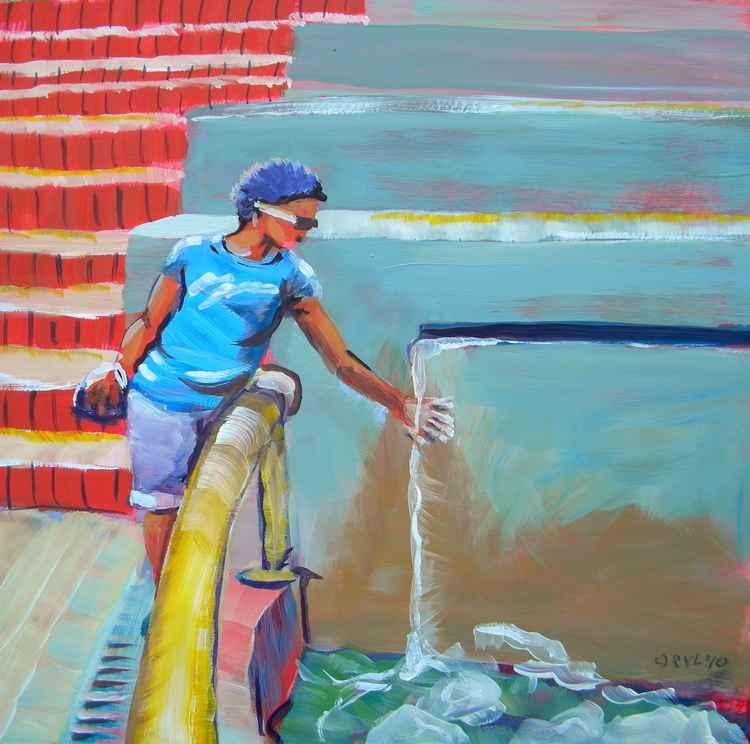 Maya at a Fountain -