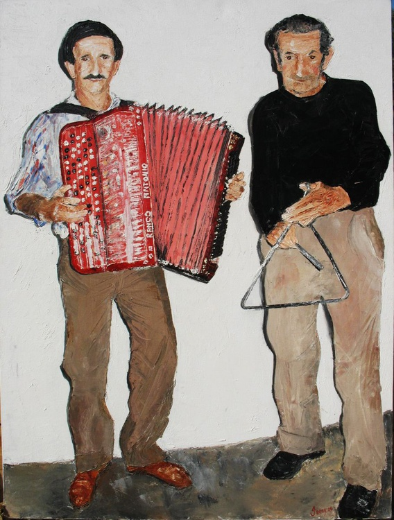 Sweet Music (very large oil on canvas) - Image 0