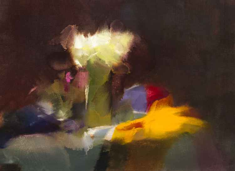 Abstract painting still life - In their Shades -