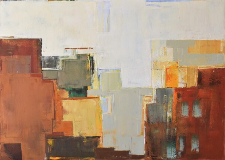 "Canvas art 39.37/27.5(100/70cm). ""Layer city XVII"" - Image 0"
