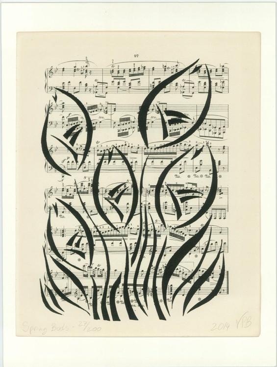 Vintage Book Artwork - Spring Buds Limited Edition Print Number 4 - Image 0