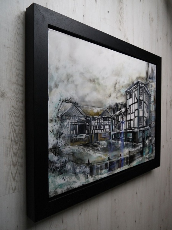 Shambles Square - Large 110cm x 70cm (with frame), ready to hang - Image 0