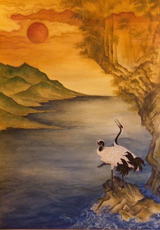 Cranes At Dawn - Image 0
