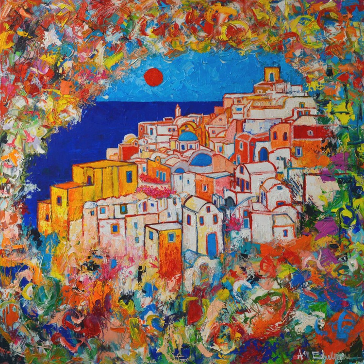 SANTORINI SPRING - ABSTRACT IMPRESSION FROM OIA AT SUNSET - Image 0