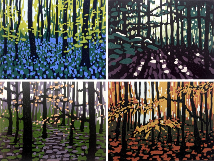 Mini Woodlands Set, Spring, Summer, Autumn and Winter - Image 0