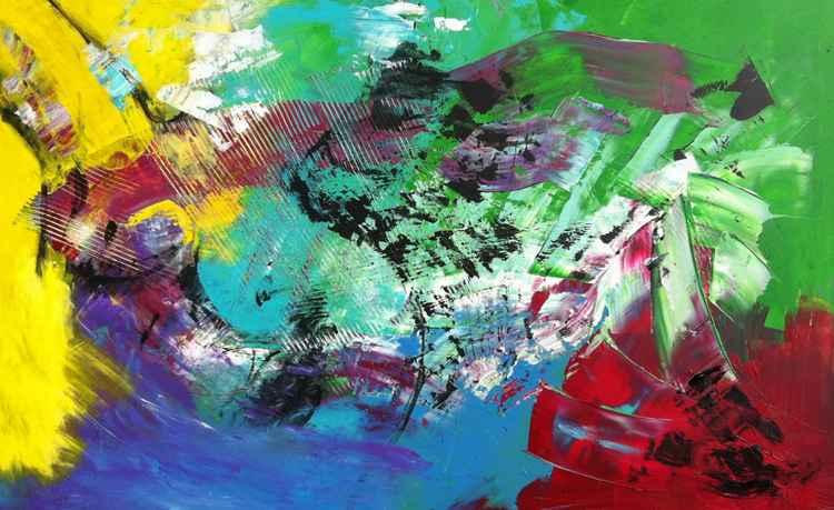 abstracte compositie groen