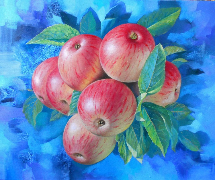 Apples / Oil on canvas / Free Shipping - Image 0