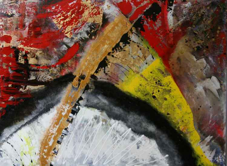 Explosion - large abstract painting -