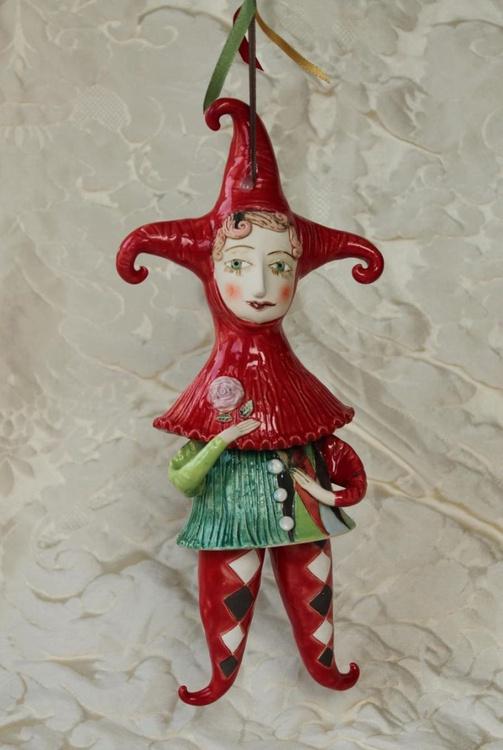Joker. Sculptured bell-doll - Image 0