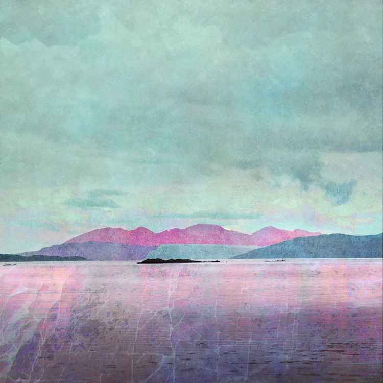 The Isle of Arran over the Sound of Bute.  Large Giclee Print.  Scottish West Coast