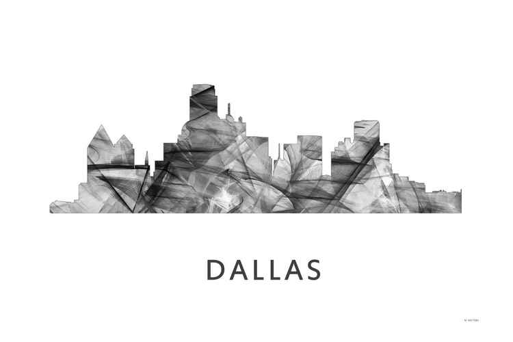 Dallas Texas Skyline WB BW -