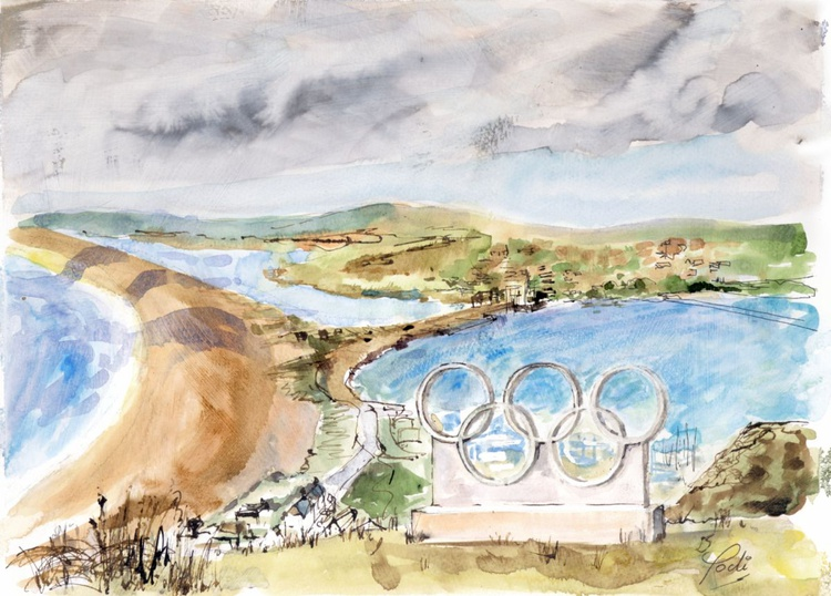 VIEW THROUGH THE OLYMPIC RINGS - Image 0