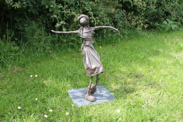 "Scarlet"" Contemporary Fairy Sculpture - Image 0"