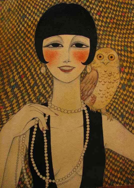 She said she worked in a cabaret singin' duets with an owl -