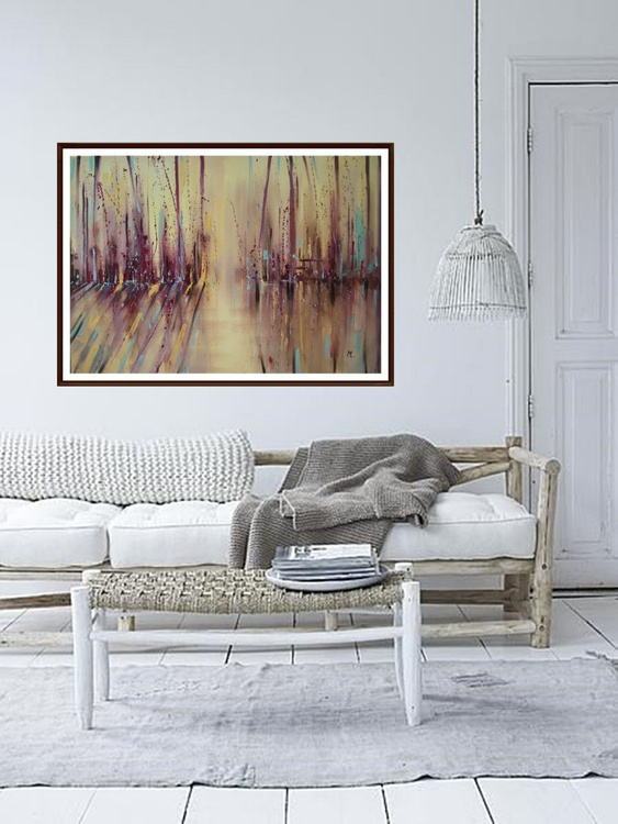 """ ABSTRACT ""   LARGE 100x70cm original oil painting on canvas - Image 0"
