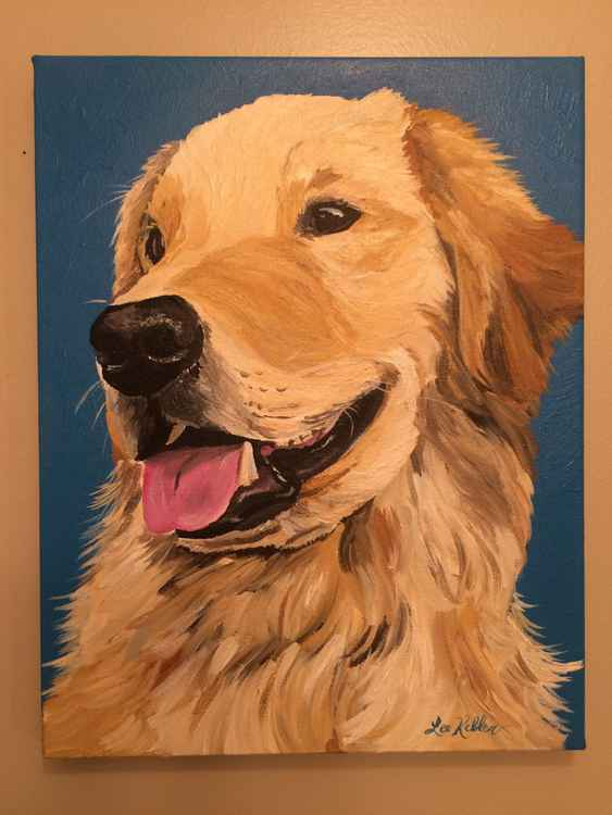 Golden Retriever Dog art