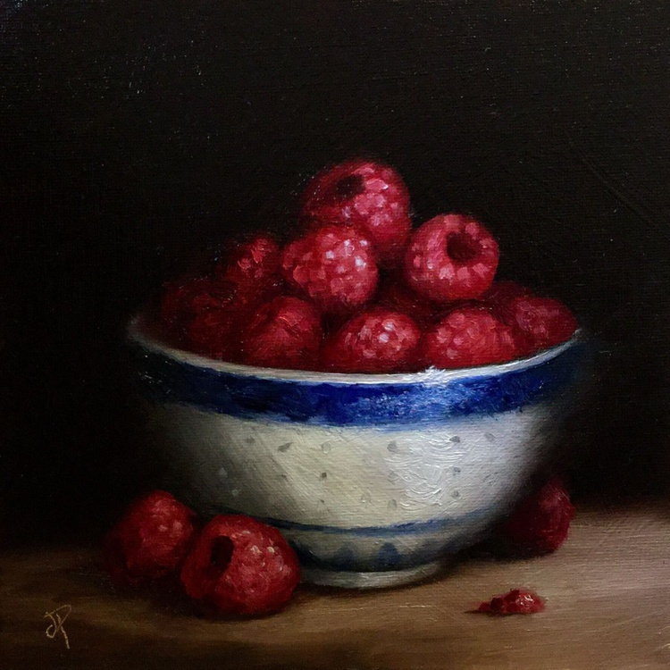 Bowl of Raspberries - Image 0