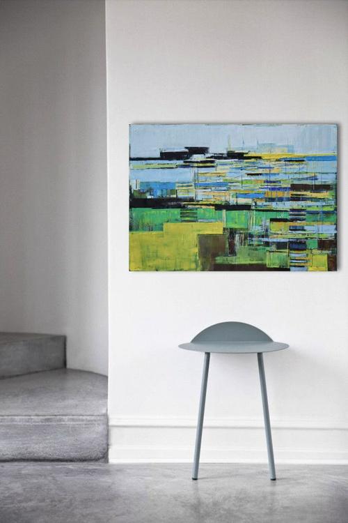 """Large canvas art 39.37/27.5(100/70cm). """"Port 78"""". - Image 0"""