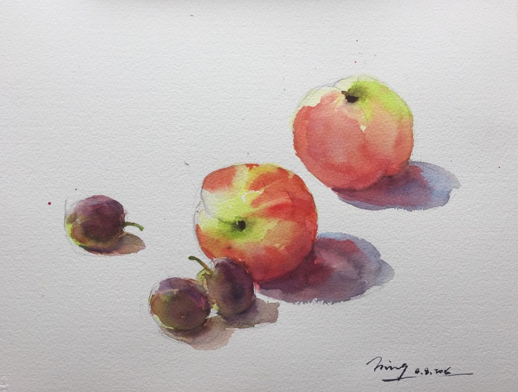 Peaches and Grapes - Image 0