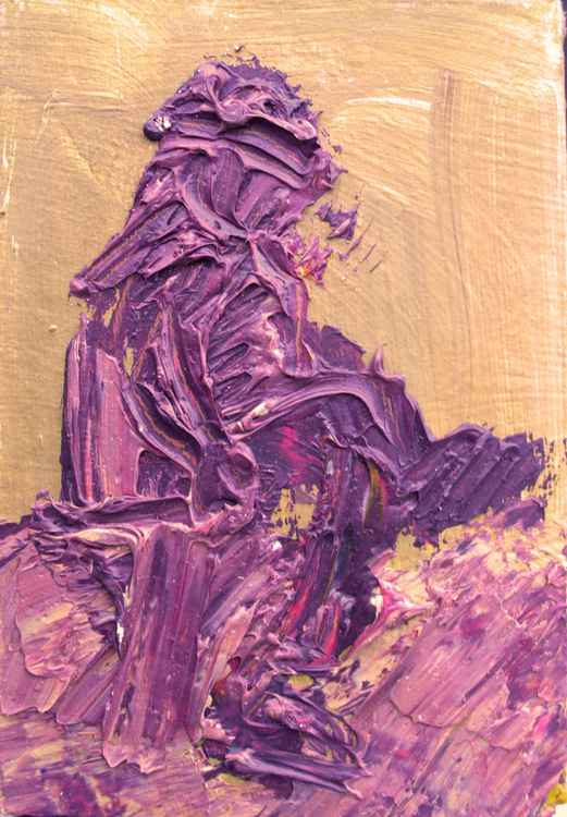 Nude in purple -