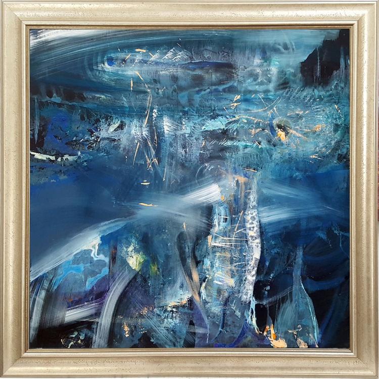 still life bizzare energy blue field oneiric fantastic art by master ovidiu kloska melancholia - Image 0