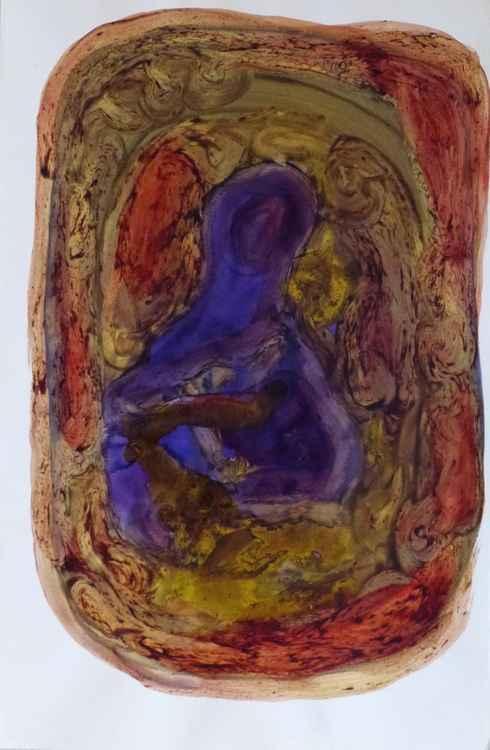 Oval variation #9 (Madonna), 32x50 cm -