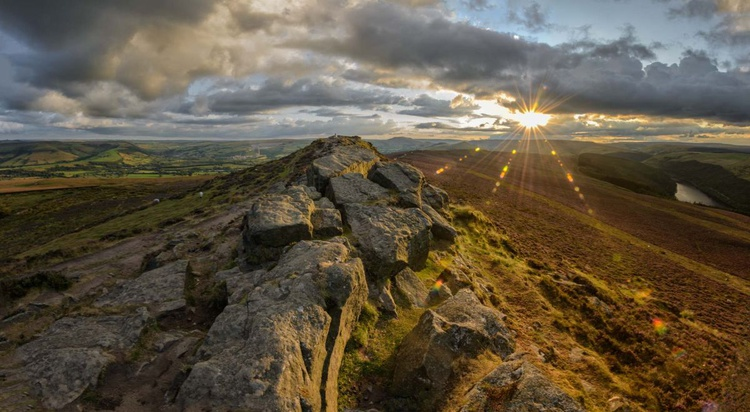 Win Hill Panoramic Sunset - Limited Edition Print - Image 0
