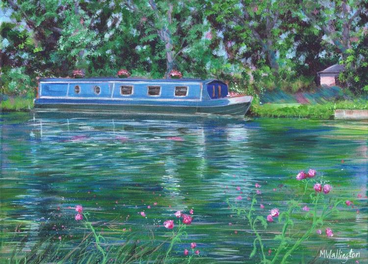 Blue Boat on the Thames - Image 0