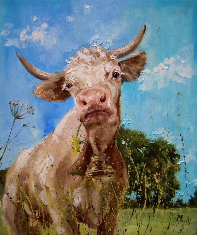 Fullness of Happiness FOR SPRING - CUTE COW - Image 0