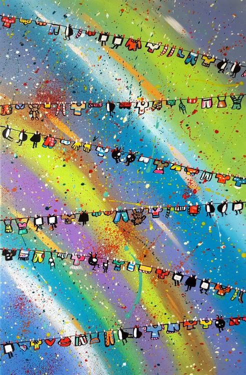 Space Colourful Laundry Televisions - Image 0