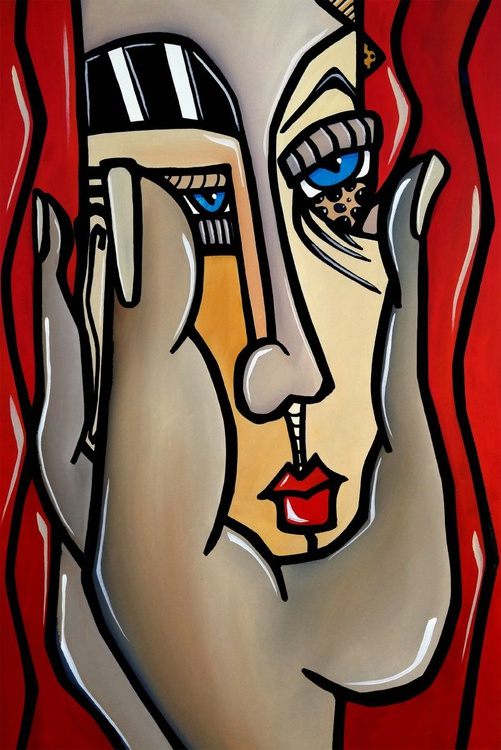 Abstract art painting Modern Home Decor wall canvas potrait by Fidostudio - Paranoid - Image 0