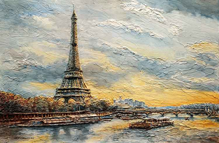 The Eiffel Tower - From the River Seine -