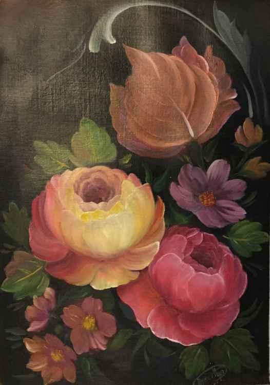 Flower tapestry-1 -