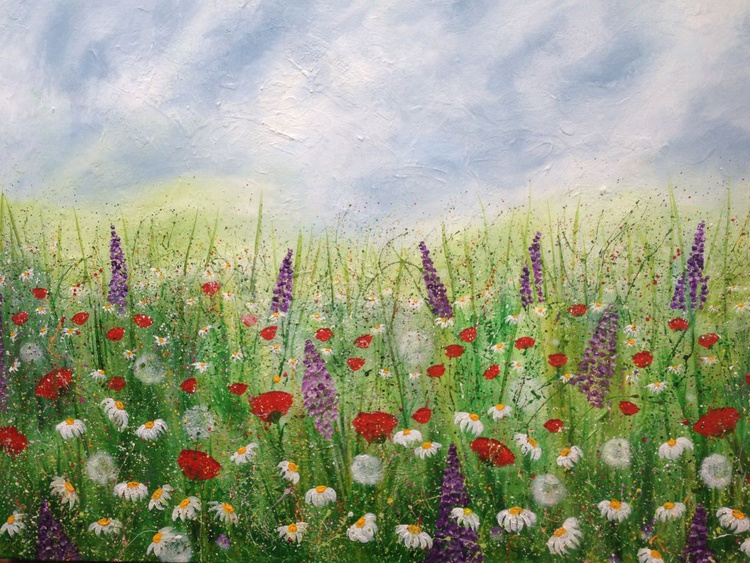 """Whimsical Meadows"" 90x60 - Image 0"