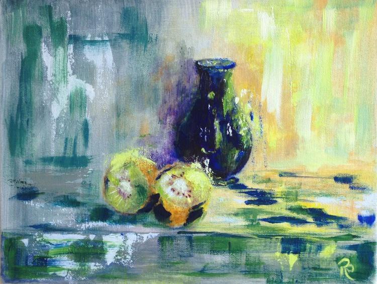 Kiwi with Vase - Image 0